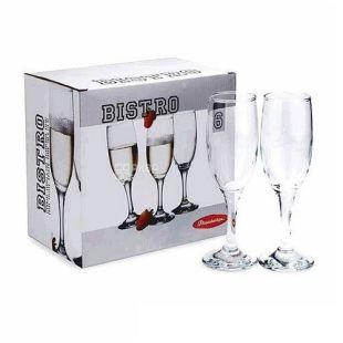 Набор бокалов Pasabahce Bistro для шампанского, 190 мл, 6 шт.