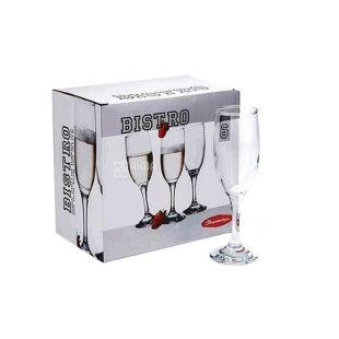 Набір бокалів Pasabahce Bistro для шампанського, 190 мл, 6 шт.