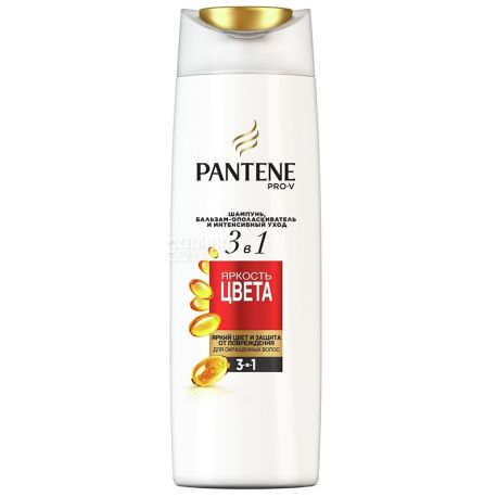 Pantene Pro-V шампунь 3в1 Яркость цвета, 360 мл