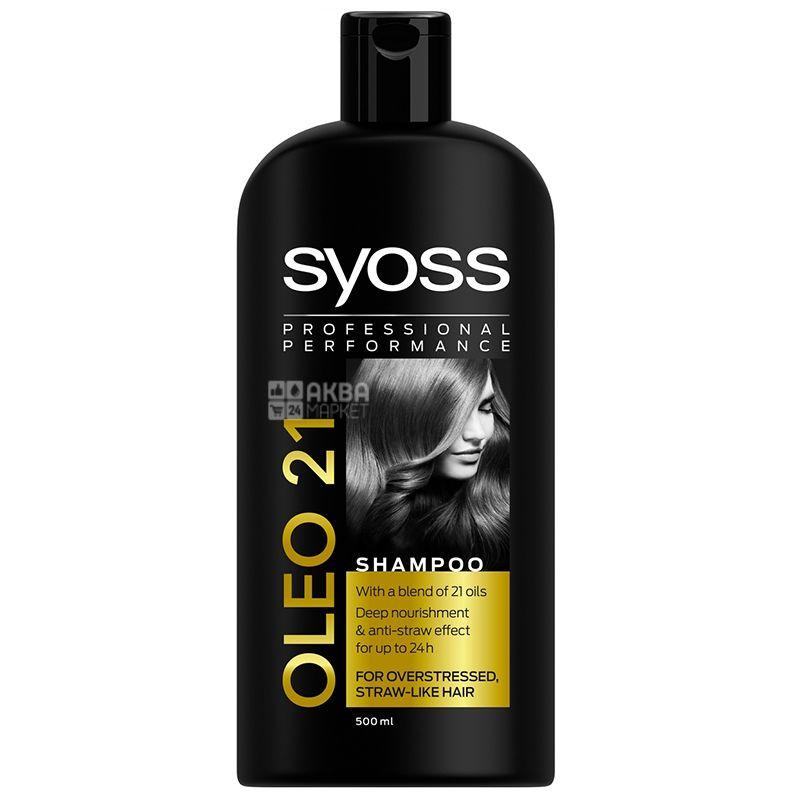 Syoss Oleo Intense, Шампунь, 500 мл