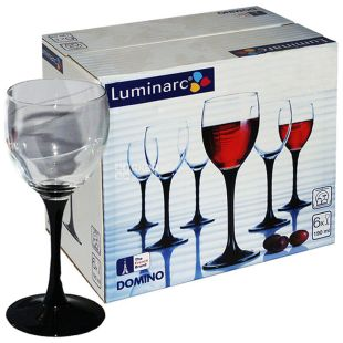 A set of glasses Luminarc Domino for wine, 190 ml, 6 pcs.