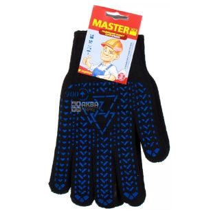 Перчатки, cуперпрочные, черные, ТМ  MasterOk