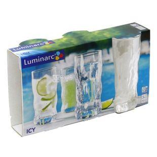 Набор стаканов, Luminarc Айси, высокий, 400 мл, 3 шт.