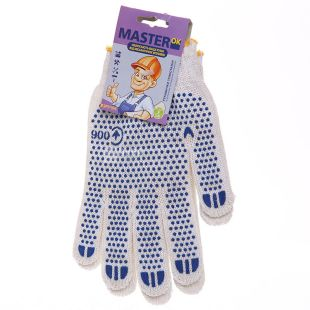 Gloves, comfortable, white, TM MasterOk