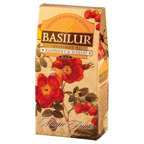 Basilur, Raspberry, Rosehip, 100 г, Чай Базілур, Малина та шипшина, чорний