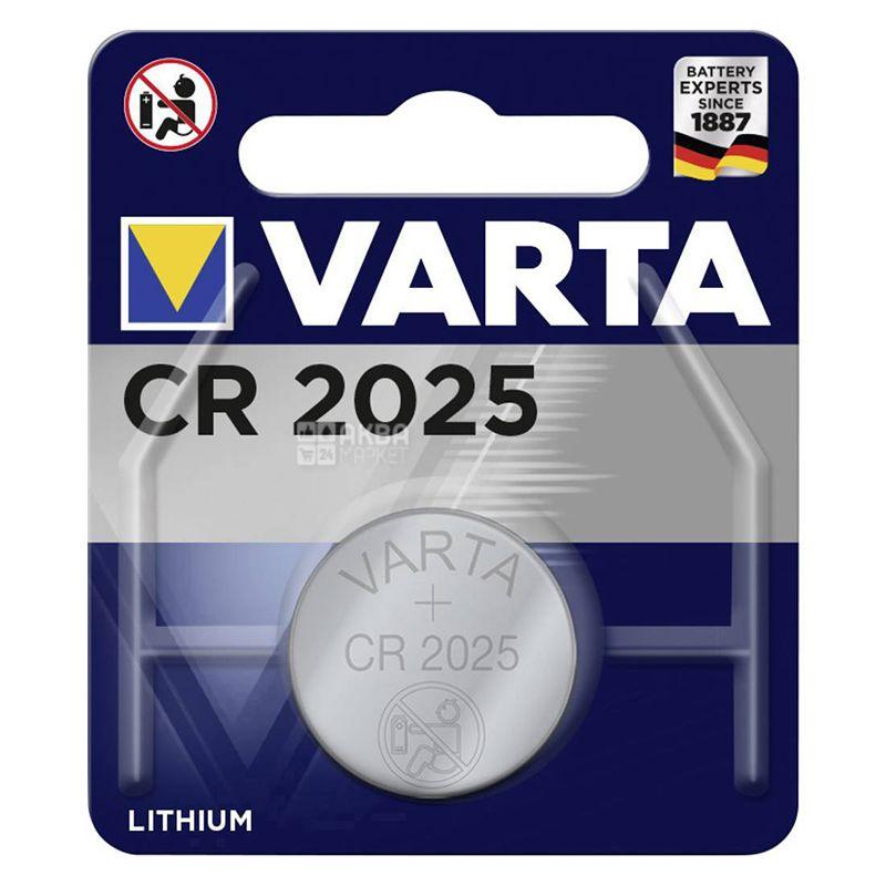 Батарейка Varta CR 2025, литий, таблеточного типа, 1 шт
