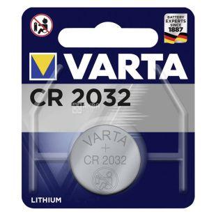 Battery Varta CR 2032, lithium, tablet type, 1 pc