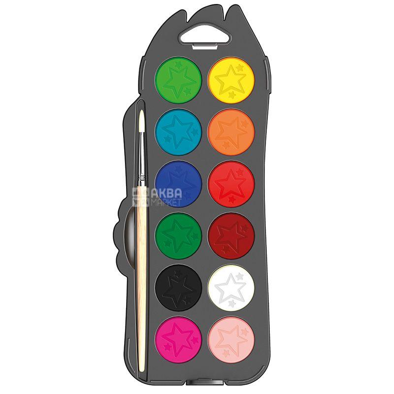 Maped Color Peps, Краски акварельные с кисточкой, 12 цветов