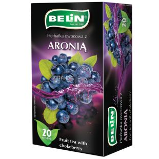 Belin, Aronia, 20 пак., Чай Бєлін, Чорноплідна горобина, фруктовий