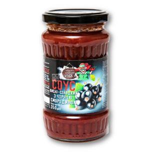 Соус Рецепти тітоньки Адж з чорною смородиною, кисло-солодкий, 350 г