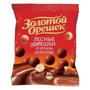 Dragee Golden Nut, 50 g, hazelnut in dark chocolate