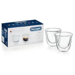 DeLonghi Espresso, Набор стаканов для эспрессо, 2 шт., 60 мл