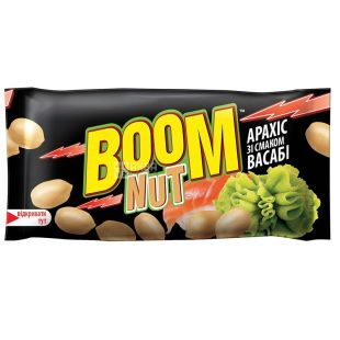 Boom Nat salted peanuts with wasabi flavor, 30 g