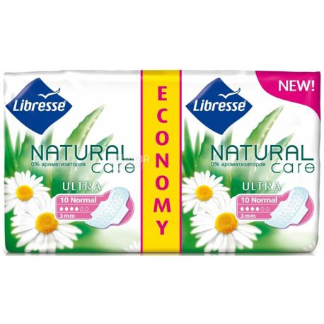 Прокладки Libresse Natural Care Ultra Clip Normal, гігієнічні, 20 шт.