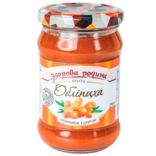 Здорова родина Обліпиха подрібнена з цукром, 350 г
