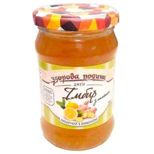 Healthy Family Jam Ginger with Lemon 350 g