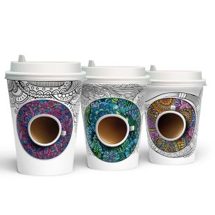Antistress paper cup 250 ml, 50 pcs.