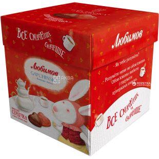Цукерки Любимов, шоколадні молочні, сердечка, 208 г