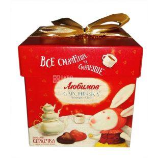 Конфеты Любимов, шоколадные молочные, сердечки, 208 г