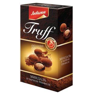 Candy Lyubimov Truff, almonds in black truffle, dragee, 100 g