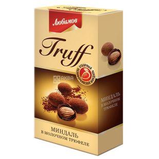 Конфеты Любимов Truff, миндаль в молочном трюфеле, драже, 100 г
