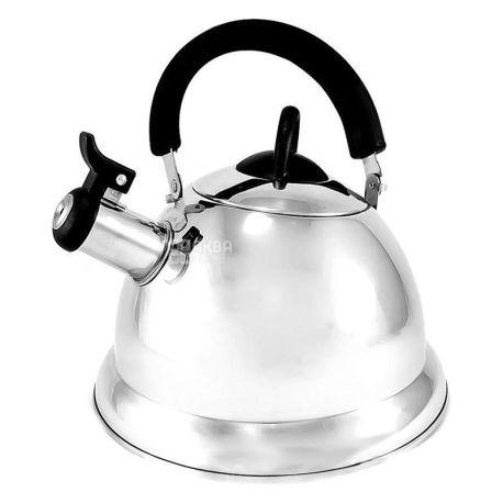 Fissman Arman, 3 л, Чайник со свистком, с нержавеющей стали