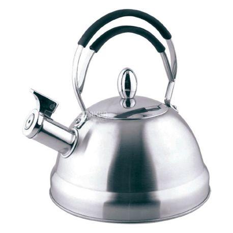 Fissman Bristol, 2,3 л, Чайник со свистком, с нержавеющей стали