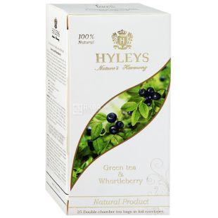 HYLEYS чай зелений з чорницею, 25 пакетиків
