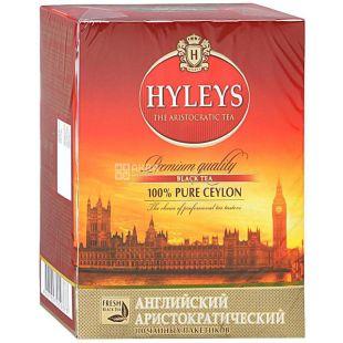 Hyleys English Aristocratic Tea, 100 г, Чай черный Хэйлис Инглиш Аристократик Ти, особо крупнолистовой
