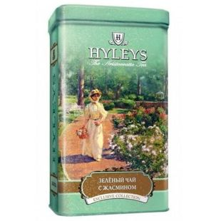 Hyleys English Green Jasmine, 125 г, Чай зелений Хейліс Інгліш Грін Жасмин, ж/б