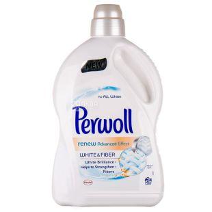Perwoll White, Средство для стирки белых тканей, Renew Advanced Effect, 2,7 л