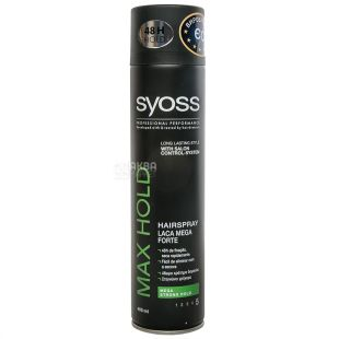 Syoss Max Hold, Hairspray, 400 ml