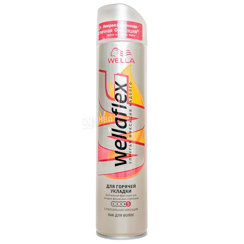 Wella Wellaflex, Лак для волос, Для горячей укладки, 250 мл