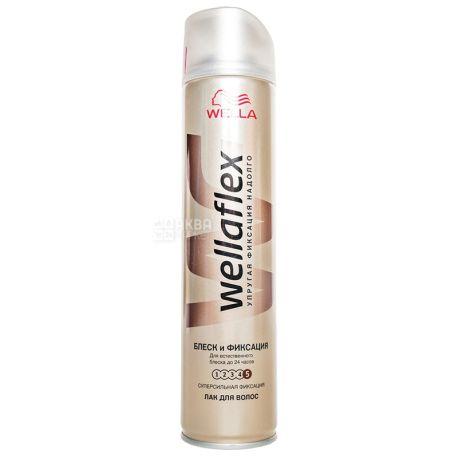 Wella Wellaflex, Лак для волос, Блеск и фиксация, 250 мл