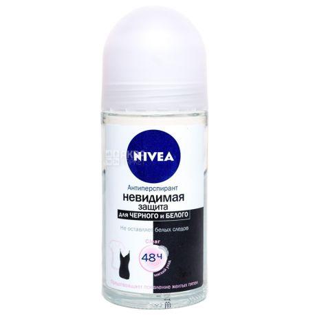 Nivea Clear Защита для черного и белого, Дезодорант роликовый, 50 мл