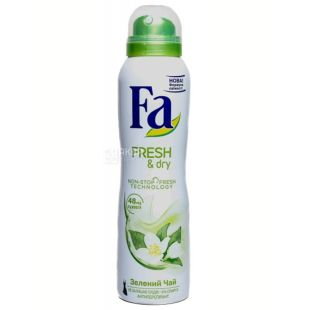 Fa Fresh&Dry Зеленый Чай, Дезодорант-аэрозоль, 150 мл