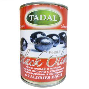 TADAL, Маслины черные с косточками, 300 г