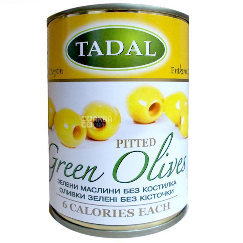 Зеленые оливки без косточек, 280 г, ТМ Tadal