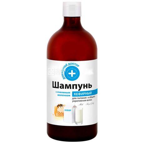 Домашний доктор, 1 л, Шампунь, Кефирный, С пчелиным молочком
