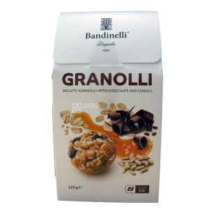 Bandinelli Granolli, Chocolate and Cereal Cookies, 125 g