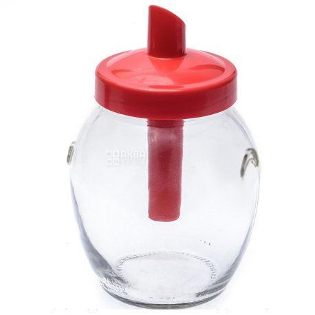Everglass, Сахарница с крышкой-трубочкой, 395 мл