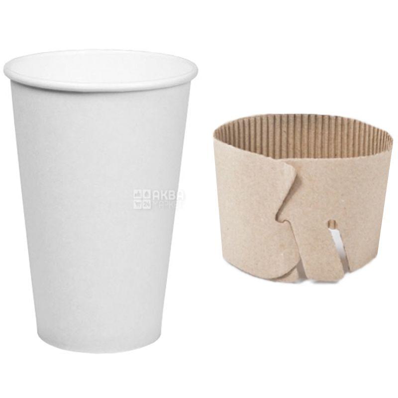 Промтус, Термочехол для стаканов 250-340 мл, гофрированный, 100 шт.