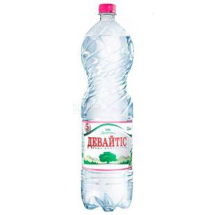Девайтис, Вода негазированная, Упаковка 6 штук по 1,5 л, ПЭТ