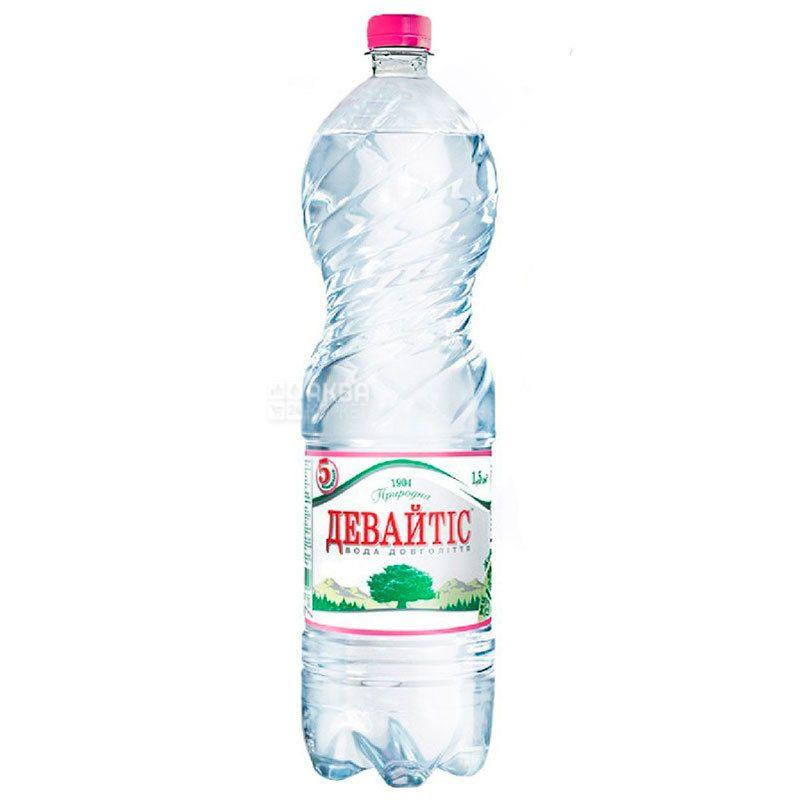 Девайтіс, 1,5 л, Упаковка 6 шт., Вода мінеральна негазована, ПЕТ