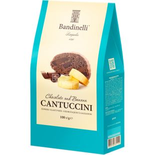 Bandinelli Cantuccini, Печиво з шоколадом і бананом, 100 г