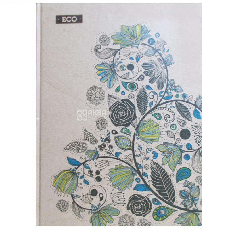 Блокнот Эко А4 Цветок, клетка, 96 л., Ранок