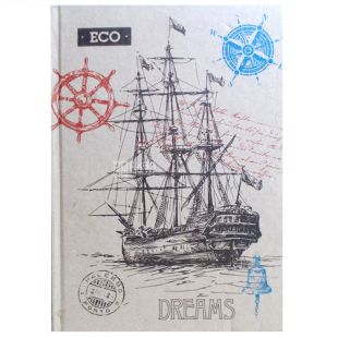 Notebook Eco A5 Frigate, cage, 96 l., Wounds