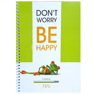 Eco notebook, A5, Bi happy frog, cage, 100 l, Wounds