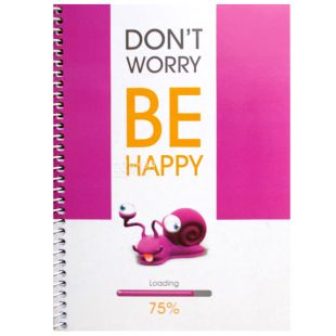 Notebook Eko A5 Bee happy snail, cage, 100 l, Wounds