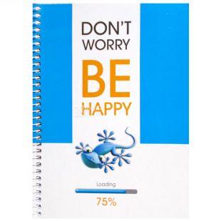 Notebook Eko A5 Bi happy lizard, cage, 100 l, Wounds